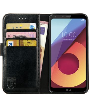 Rosso Element LG Q6 Hoesje Book Cover Zwart
