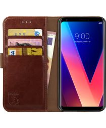 Rosso Element LG V30 / V30S Hoesje Book Cover Bruin