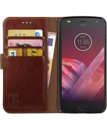 Rosso Element Motorola Moto Z2 Play Hoesje Book Cover Bruin