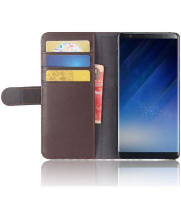 Samsung Galaxy Note 8 Echt Leren Hoesje met Pasjes Bruin