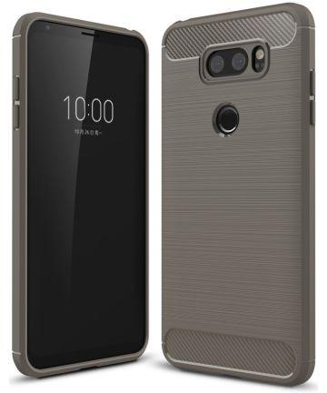LG V30 / V30S Geborsteld TPU Hoesje Grijs