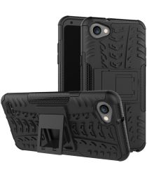 LG Q6 Hybride Hoesje met Standaard Zwart
