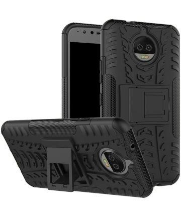 Motorola Moto G5S Plus Robuust Hybride Hoesje Zwart