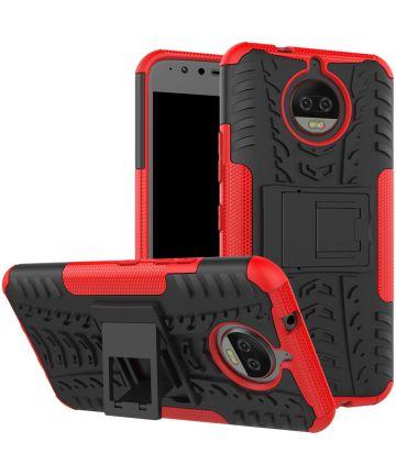 Motorola Moto G5S Plus Robuust Hybride Hoesje Rood Hoesjes