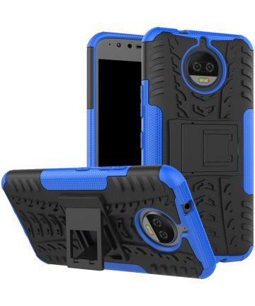 Motorola Moto G5S Plus Robuust Hybride Hoesje Blauw
