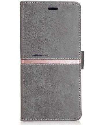 Xiaomi Mi Max 2 Stijlvol Portemonnee Hoesje Grijs Hoesjes