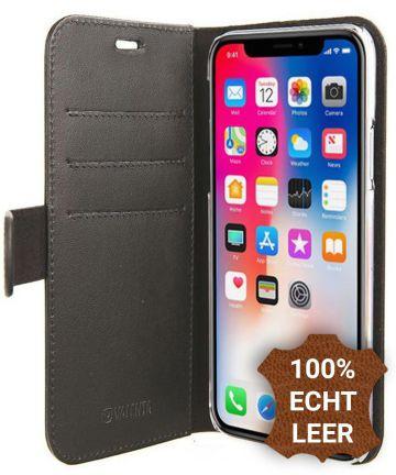 Valenta Luxe Apple iPhone X Hoesje Leer Bookcase Zwart