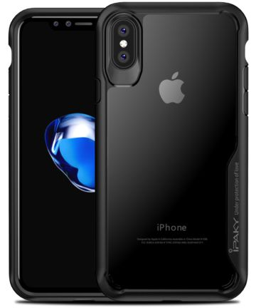 Ipaky Hybrid Back Case voor uw Apple iPhone X Zwart