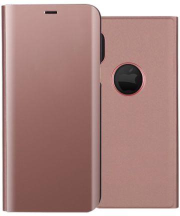 Apple iPhone X Spiegel Hoesje Roze Goud