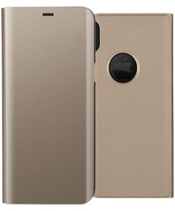 Apple iPhone X Spiegel Hoesje Goud