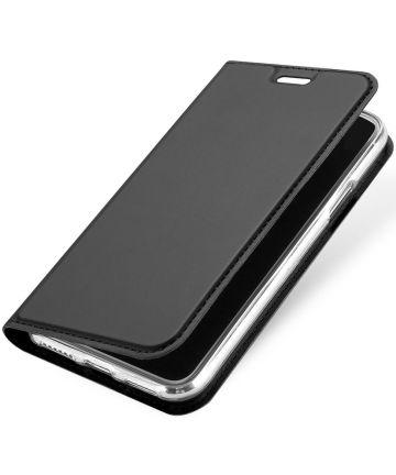 Dux Ducis Apple iPhone X Bookcase Hoesje Grijs