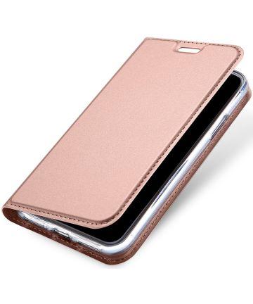 Dux Ducis Apple iPhone X Bookcase Hoesje Roze Goud Hoesjes