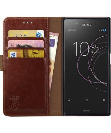 Rosso Element Sony Xperia XZ1 Compact Hoesje Book Cover Bruin