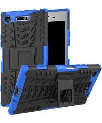 Sony Xperia XZ1 Hybride Kickstand Hoesje Blauw
