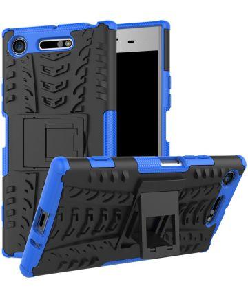 Sony Xperia XZ1 Hybride Kickstand Hoesje Blauw Hoesjes