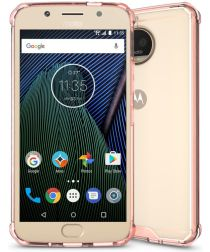 Motorola Moto G5S Plus Hybride TPU Hoesje Roze