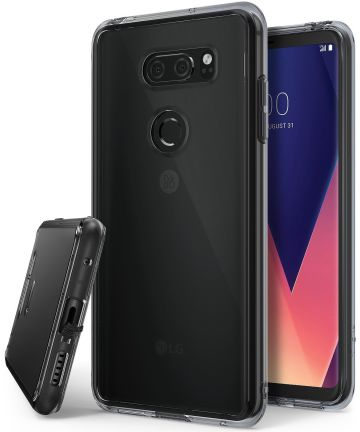 Ringke Fusion LG V30 / V30S Hoesje Smoke Black Hoesjes