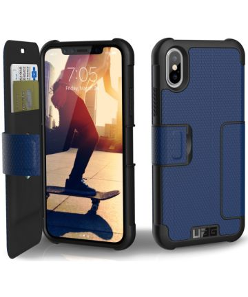 Urban Armor Gear Metropolis Hoesje Apple iPhone XS/X Cobalt
