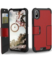 Urban Armor Gear Metropolis Hoesje Apple iPhone XS/X Magma