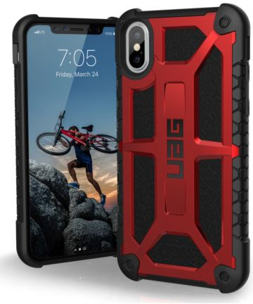 Urban Armor Gear Monarch Hoesje Apple iPhone XS/X Crimson