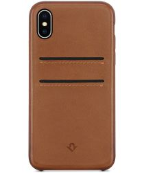Twelve South RelaxedLeather iPhone X / XS Hoesje Cognac