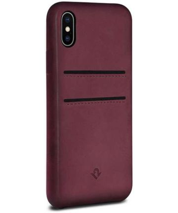 Twelve South RelaxedLeather iPhone X / XS Hoesje Marsala