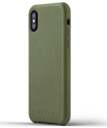 Mujjo Lederen Case Apple iPhone X Groen