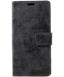 Sony Xperia XZ1 Vintage Portemonnee Hoesje Grijs