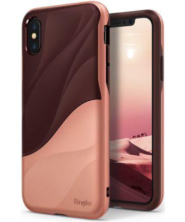 Ringke Wave Apple iPhone X Hoesje Roze Goud Hoesjes