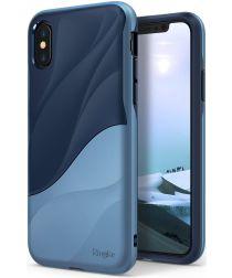 Ringke Wave Apple iPhone X Hoesje Blauw