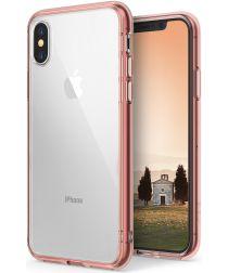 Ringke Fusion iPhone X Hoesje Doorzichtig Roze Goud