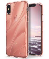 Ringke Flow iPhone X Hoesje Roze Goud