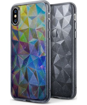 Ringke Air Prism Apple iPhone X Hoesje Glitter Grijs