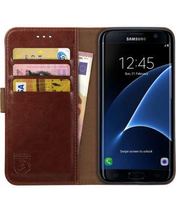 Rosso Element Samsung Galaxy S7 Edge Hoesje Book Cover Bruin
