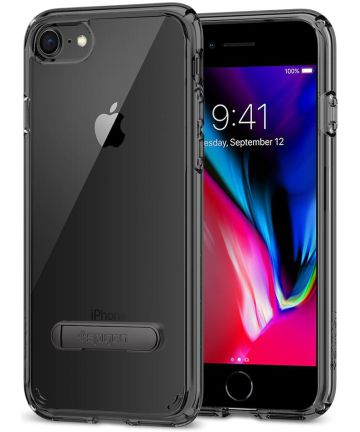 Spigen Ultra Hybrid S Case Apple iPhone 7/8 Zwart
