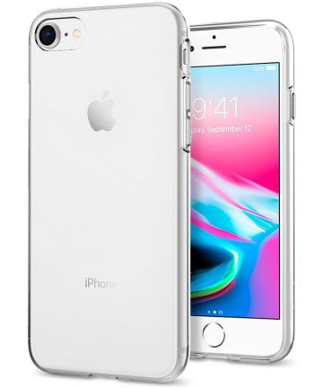 Spigen Liquid Crystal Apple iPhone SE 2020 Transparant Hoesjes