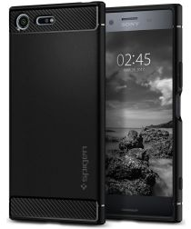 Spigen Rugged Armor Case Sony Xperia XZ Premium Zwart