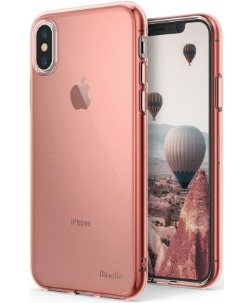 Ringke Air Apple iPhone X Hoesje Roze Goud