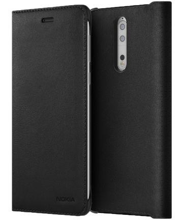 Originele Nokia 8 CP-801 Lederen Flip Case Zwart