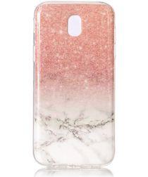 Samsung Galaxy J5 (2017) TPU Hoesje met Marmer Wit