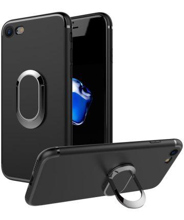 Apple iPhone 7 / 8 Backcover Hoesje met Magneet en Stand Functie Zwart