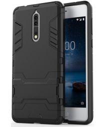 Hybride Nokia 8 Hoesje Zwart