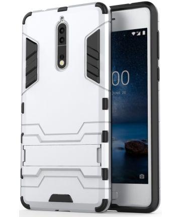 Hybride Nokia 8 Hoesje Zilver