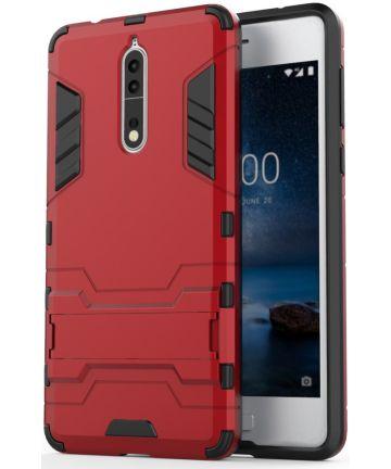 Hybride Nokia 8 Hoesje Rood