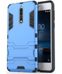 Hybride Nokia 8 Hoesje Blauw
