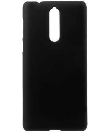 Nokia 8 Rubber Coat Hard Case Zwart Hoesjes