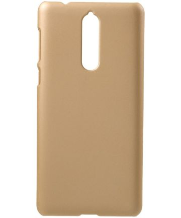 Nokia 8 Rubber Coat Hard Case Goud