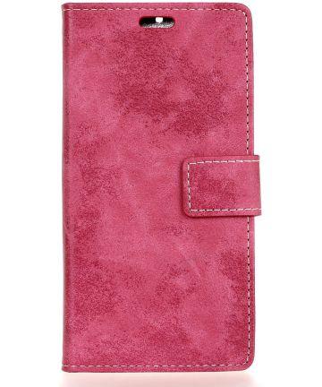 Nokia 8 Vintage Portemonnee Hoesje Roze