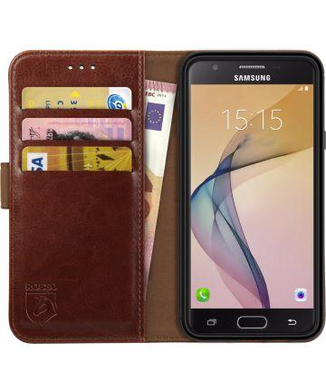 Rosso Element Samsung Galaxy J3 (2016) Hoesje Book Cover Bruin