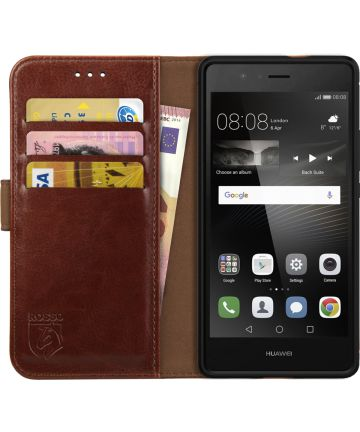 Rosso Element Huawei P9 Lite Hoesje Book Cover Bruin